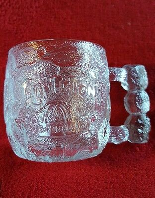 1993 Flintstones Rocky Road Glass Collectible Mug Coffee Cup From McDonalds