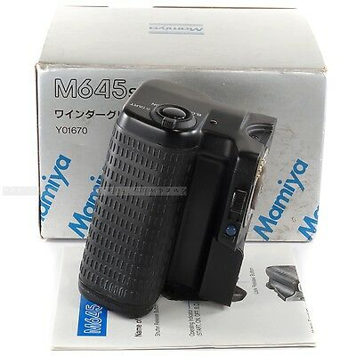 Mamiya Y01670 Power Drive Grip Motor Winder for M645 Super 645 Pro TL / (214631)