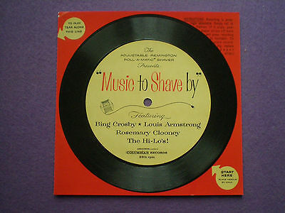"REMINGTON SHAVER USA FLEXI-DISC 6"" 1959 Bing Crosby THE HI-LO'S Rosemary Clooney"