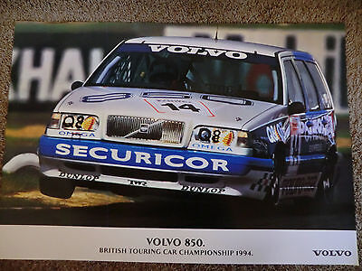 wonderful beauty-poster VOLVO 850 TURBO WAGON BTCC #14 1994 - ltd.ed. - 70x100cm