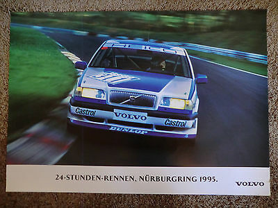 wonderful beauty-poster VOLVO 850 TURBO HEICO 24h NÜRBURGRING 1995 - 70x100cm