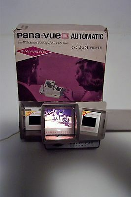 Sawyers Pana-Vue Automatic 2x2 Slide Viewer with box vintage