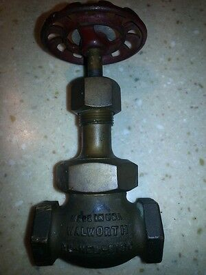 ANTIQUE BRONZE WALWORTH RE-NEW-DISC VALVE for Steampunk Industrial Upcycling