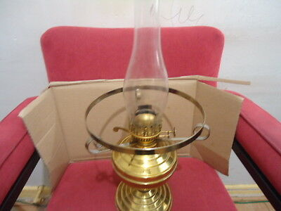 Duplex twin burner oil lamp with shade