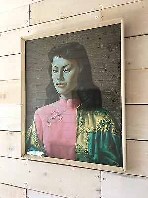 Original Tretchikoff  Print  Of Miss Wong In Superb Condition