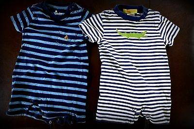 """Lot 2 Baby Boy Size 3-6 Months Gymboree """"Baby Gap"""" Summer Rompers """"One Pieces"""""""