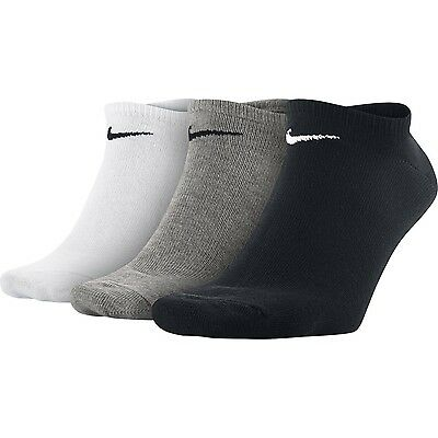 3 PACK NIKE Logo Ankle No Show Invisible Sports Liner Socks, Pairs Men's Women's