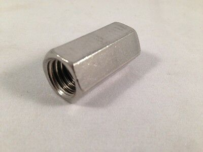 "3/4"" Rod Couplers, Rod Connectors,  2-1/4"" Long Type 316 Stainless Steel"