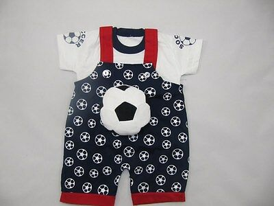 T-shirt and Short Pants New Soccer Cloth Shortall Set Outfit Age 1 to 2 Years