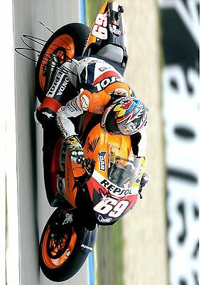 Nicky Hayden  Signed 12X8 Photo Great Action Shot Image Looks Great Framed