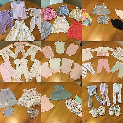 Beautiful Baby Girls Clothes 0-3 Months Bundle -Over 60 Items- Mostly Next.