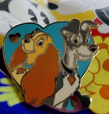 Disney Pin Lady and the Tramp Couples Mystery Pin AUTHENTIC FREE SHIP