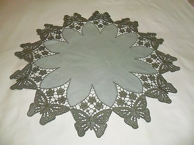 machine embroidered lace doily