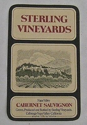 Vintage Wine Label Sterling Vineyards Cabernet Sauvignon Calistoga Napa Valley