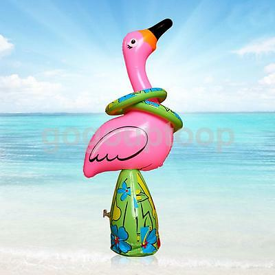 Inflatable Flamingo Ring Toss Hawaiian Party Favors Children Pool Beach Game