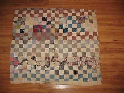 """1900s square of QUILT ~ 23"""" X 26"""" ~ CIRCUS ADVERTISING ~ KNOXVILLE CITY MILLS ~"""