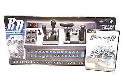 NOS RailDriver Desktop Train Computer Simulator Cab Controller Trainz 12 Game PC