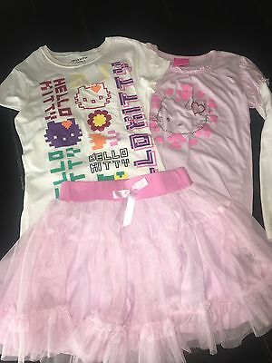 Hello Kitty Print Clothes Lot Size large 10-12, 3 piece set lot