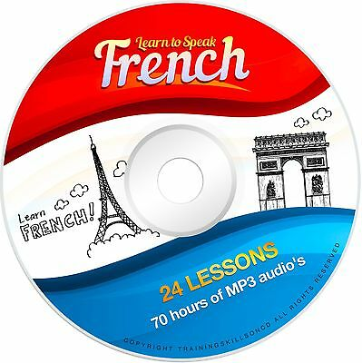 Learn To Speak Basic French Language Audio MP3 + E Book Lessons PDF on CD
