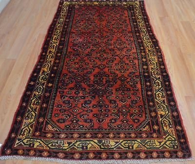3'3 x 6'8 All Over Authentic Semi Antique Persian Tribal Hand Knotted Wool Rug
