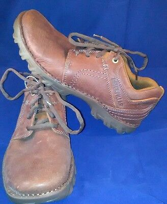 Caterpillar Emerge Brown Leather Casual Shoes Mens Size 8M