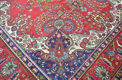 10 x 12'5 Authentic Antique Persian Tabriz Hand Knotted Oriental Wool Area Rug