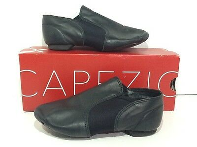 CAPEZIO Girls Jazz Ankle Boot Size 2.5 Black Leather Split Sole Shoes X1-1568