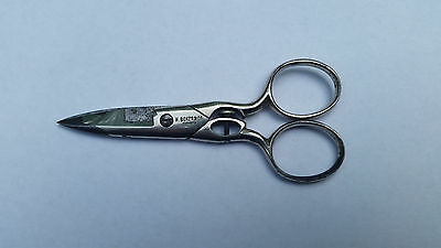 Vintage Adjustable Button Hole Sewing Scissors H. Boker & Co. Germany 4.5""