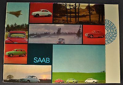 1966 Saab Catalog Sales Brochure Monte Carlo 850 Excellent Original 66