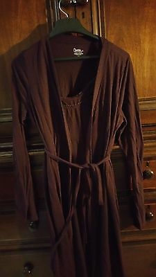 Maternity Nursing Night Gown And Robe Size Medium Burgundy