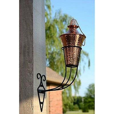 Kona Deluxe Sconce Torch Hammered Copper