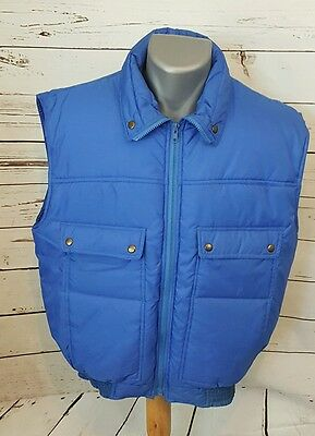 1815 Ozark Trail Insulated Vest Size L Solid Blue Full Zip Nylon 4 Pockets