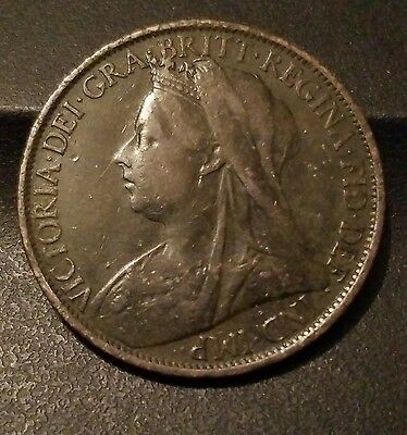 1900 GREAT BRITAIN - ONE PENNY - Victoria - Nice Coin