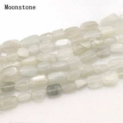 5-10mm Natural Moonstone Freeform Beautiful Chip Loose Beads Strand 15.5''