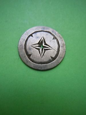 Seated Half Dime Love Token With Engraved Star? Pierced Charm Estate Look!