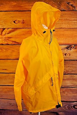 L.L. Bean Yellow Water Resistant Rain Coat Jacket Unisex Size Small GUC