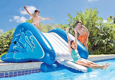"Intex Inflatable Water Slide Play Center with Sprayer 131"" x 81"" x 46"""