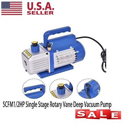 New Gallon Vacuum Chamber and 5 CFM Stage Pump Degassing Silicone Kit EW