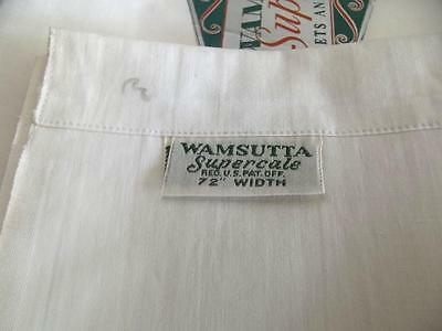 Unused Antique 1930s Wamsutta Supercale Flat Twin Sheet 72x108 Cotton Fabric