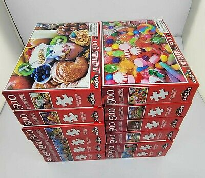 BRAND NEW Lot of 12 boxes Puzzlebug 500 Pieces Jigsaw Puzzle 8+ Kids 46x28cmEach