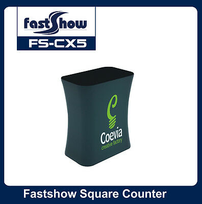 Rectangle Fabric Tension Counter Trade Show Display Table with Custom Graphic