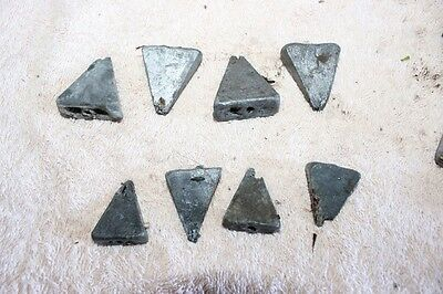 Lead Triangle Sinkers x 36, 2 and 4oz  - aprox 3kg in total