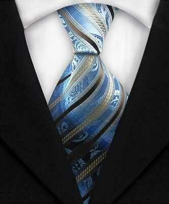 New Classic Men's Striped Silk Party Ties WOVEN Business Formal Tie Necktie A206