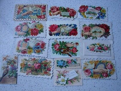 QUANTITY OF 120 yo  VICTORIAN DIE CUT  CALLING CARDS   (9 SCANS)