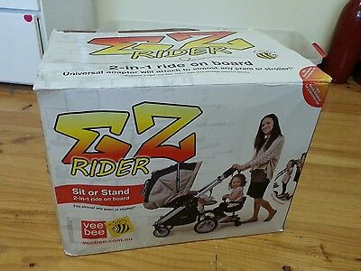 vee bee ez rider sit or stand for pram/stroller LIKE NEW