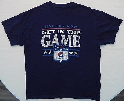 PEPSI Live For Now Get in the Game SHIRT L/XL 46 worn like vintage look Football