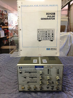 H-P 8012B Pulse Generator with Manual, used, needs alignment
