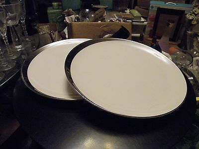 2 Pickard CRESCENT Platinum Ivory Dinner Plates MINT - Multiples Available