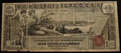 1896 $1 One Dollar Bill United States Educational Series Silver Certificate Note