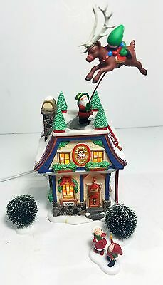 Department 56 Sata's Reindeer Rides Animated North Pole Christmas Holiday Series